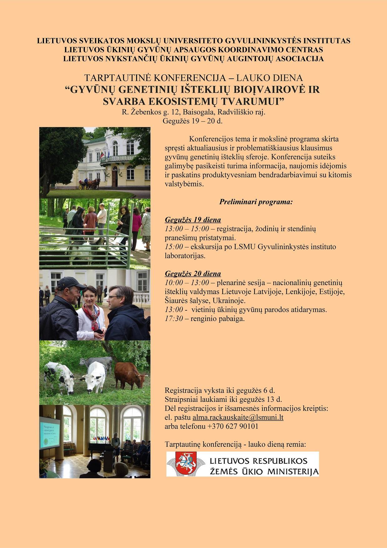 Tarptautinė konferencija - lauko diena 2016